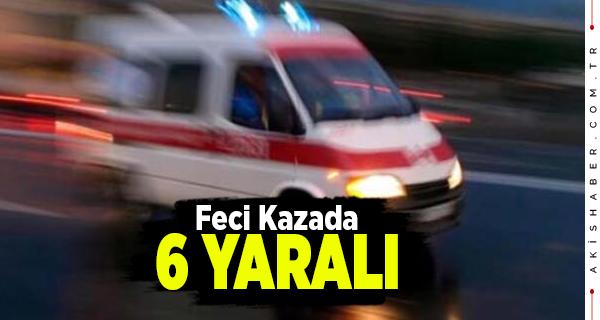 Denizli'de Takla Atan Araçta 6 Kişi Yaralandı
