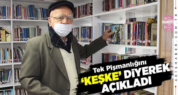 Denizli'de İşçi Emeklisi Adam Kitap Kurdu Oldu