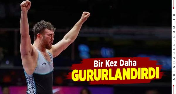 Çivrilli Milli Güreşçi Altın Madalyayla Döndü