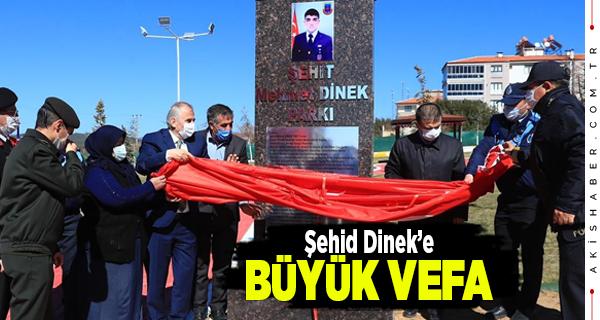 Afrin Şehidi'nin İsmi Denizli'de Parka Verildi