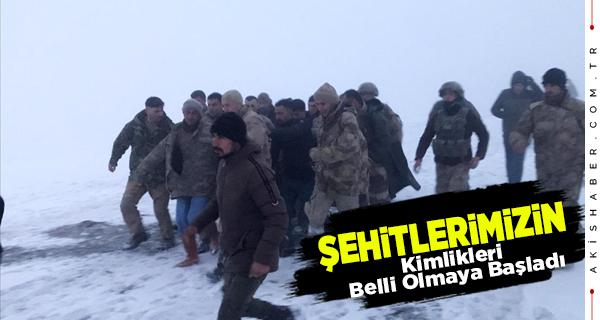 Bitlis'teki Kazada Şehadete Eren Askerlerimizin Kimlikleri