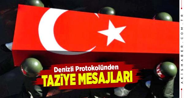 Denizli Protokolünden Bitlis Şehitlerine Taziye Mesajı