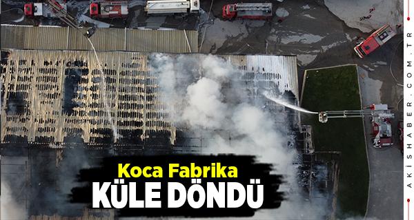 Denizli'de Fabrika Yangını 3 Saatte Söndürüldü