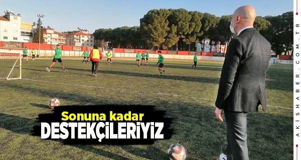 Başkan Özbaş Sarayköyspor'un İlk Antrenmanına Katıldı
