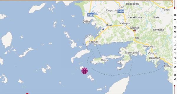 Datça'da Büyük Deprem! Çok Korkuttu