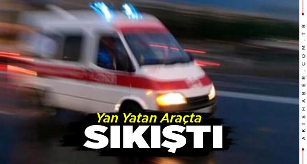 Denizli'de Kaza Yapan Araçta 1 Kişi Yaralandı