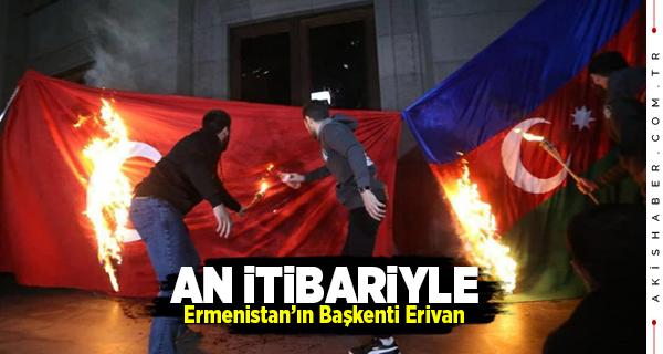 Erivan Bayram Yapıyor Türk Bayrakları Yakılıyor!