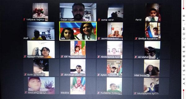 İki Devlet Tek Milletin Çocukları Çevrimiçi Görüştüler