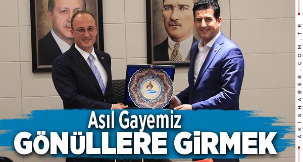 Başkan Örki  AK Parti İl Başkanlığını Misafir Etti