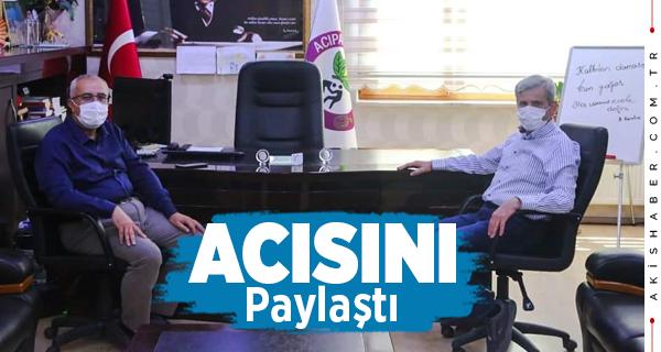 Başkan Arslan'dan Başkan Şevkan'a Taziye Ziyareti