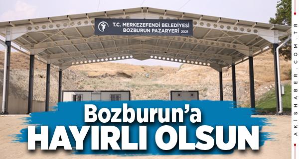 Merkezefendi'de Bozburun Pazar Yeri Hizmete Giriyor