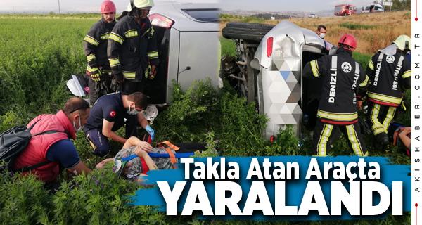 Denizli'de Tarlaya Uçan Araçta 1 Kişi Yaralandı