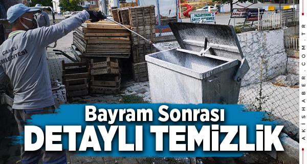 Çameli Belediyesi Çöp Konteynerlerini Tertemiz Yapıyor
