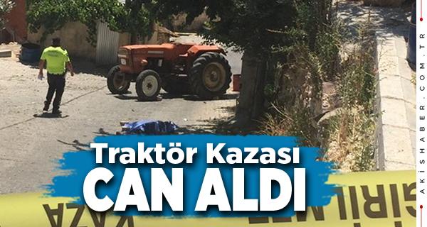 Denizli'de Devrilen Traktörün Şoförü Yaşamını Yitirdi