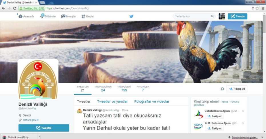 Twitter'da Sahte Valilik Hesabı Açtılar