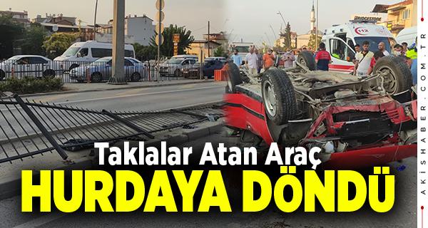 Denizli'de Kontrolden Çıkan Araca Transit Çarptı: 1 Yaralı