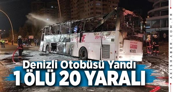 Denizli Firmasına Ait Otobüs Ankara'da Yandı