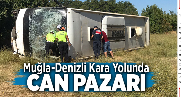 Tur Otobüsü Devrildi: 1 Ölü 35 Yaralı