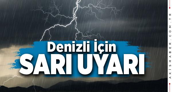 Meteoroloji'den Denizli İçin Önemli Uyarı!