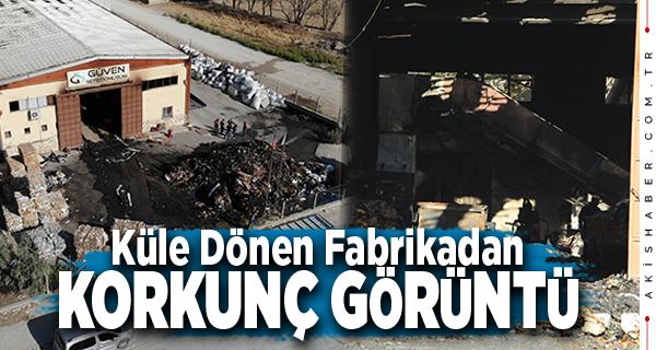 Denizli'de Yanan Fabrikadaki Hasar Ortaya Çıktı