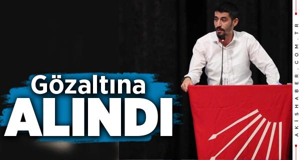 CHP Gençlik Kolları Denizli İl Başkanı Gözaltına Alındı