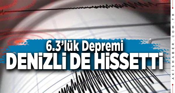 Yunanistan'daki Büyük Deprem Denizli'yi de Salladı
