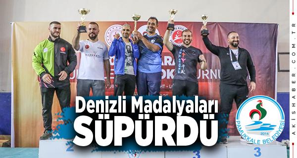 Denizli Kick Boks Turnuvasında  27 Madalya Kazandı