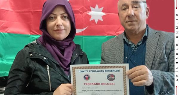 Azerbaycan Kardeşliğine Desteğe Teşekkür Belgesi