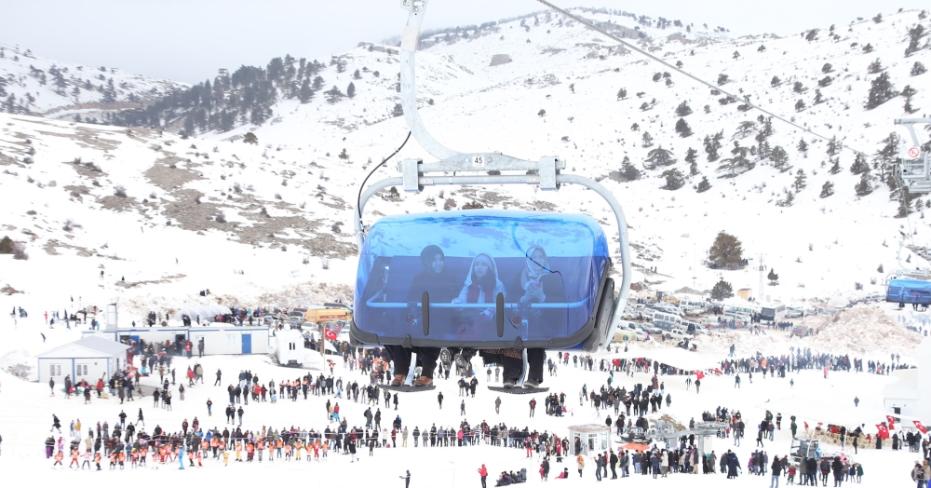 Binlerce Denizlili Bozdağ'da Kar keyfi Yaşadı
