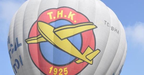 Denizli'de THK'nın 90'ıncı yılı için balon turu