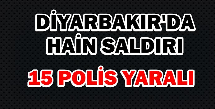 Diyarbakırda polis aracına bombalı saldırı